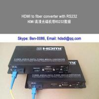 Quality HDMI & RS232 & IR to fiber converter and extender for sale