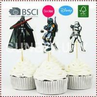 China 24pcs The Star Wars Cupcake Topper on sale