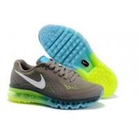 China Air Max 2014 Green Blue Grey White Online Shoe Shops on sale