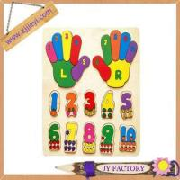 Quality Jieyi New Design Baby Counting Fingers Hands Wooden Letter jigsaw Puzzle for sale