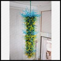 Quality Mouth Blown Colored Glass Chandelier for sale
