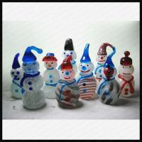 Quality Lampwork Glass Snowman for sale