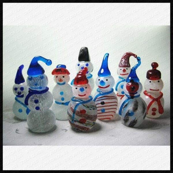 Buy Lampwork Glass Snowman at wholesale prices
