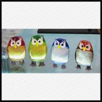 Quality Lamp work glass small owl for sale