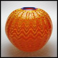 Quality Mouth Blown Art Glass Vases for sale