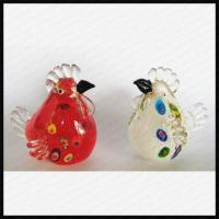 Quality Lovely Glass Chicken Ornament for sale