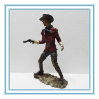 China poly resin cow boy with gun on sale