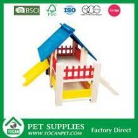 wholesale colorful wooden hamster house