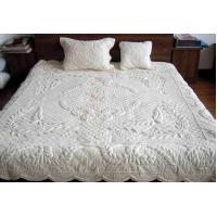China 100% Cotton embroidery quilt/bed cover on sale