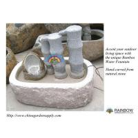 Quality Water Garden Bamboo Cascading Granite Water Fountain for sale