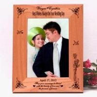 Engraved Wooden Wedding Photo Frames : Engraved Wooden Wedding Frame of thanh39