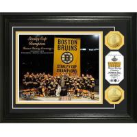 Quality Boston Bruins 2011 Stanley Cup Banner Raising 24KT Gold Coin Photo Mint for sale