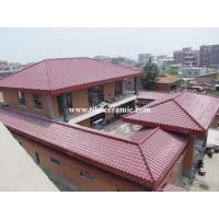 China Clay spanish roof tile on sale