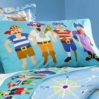 China Shiver Me Timbers Pirate Pillow Case on sale