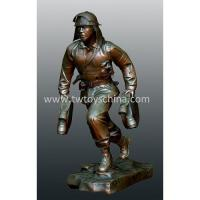 China Statues Of Firefighter In Poly Resin on sale