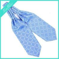 China Fashion Elegant Light Blue Microfiber Brand Name Cravat For Men on sale
