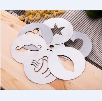 Buy Customized Stainless Steel Coffee Stencil,6pcs coffee stencil set at wholesale prices