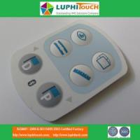 Quality Medical Device Laser Etching Backligt SIlicone Rubber Keypad for sale