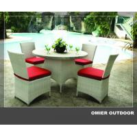 Quality High grade outdoor white wicker dining sets furniture OMR-G161 for sale