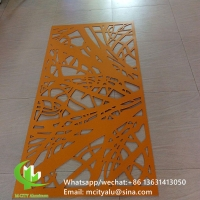 PVDF Tree design Decorative perforated sheet metal panels privacy screen decoration