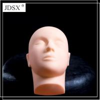 Quality Cork Canvas Block Head PVC massage training mannequin head-without hair for sale