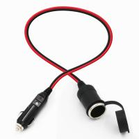 Buy cheap Car charger cigar cable car cigarette lighter plug male to female from wholesalers