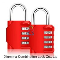 Quality 8023-4L red resettable combination lock for sale