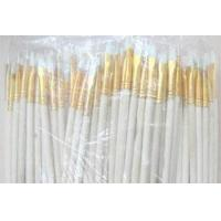 Buy cheap High quality 100pcs wood handle wool hair NO pen paint brush set pointed art paint brushes from wholesalers