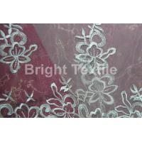 Buy cheap GARMENT FABRIC satin embroidery from wholesalers