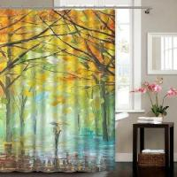 Buy cheap Gold Supplier Customized 3D High Quality Printing Fabric Shower Curtain from wholesalers