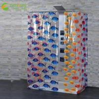 Quality Eco-friendly Printed Waterproof Plastic PEVA Shower Curtain for sale